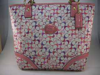 Coach Heritage Bias Pink Heart Tote / Shopper / Shoulder Bag/ NWT