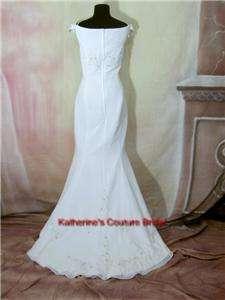 Wedding Dress Bridal sz 14 Gown #808 White In Stock