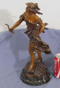 French Antique Bronze Figurine Woman Statue by Auguste Moreau w