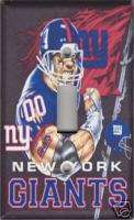 New York Giants Single Light Switch Plate Cover   Black