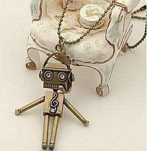 Fashion Ancient Style Robot Notes Necklaces Pendants