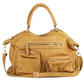 NWT Genuine leather EDDIE satchel shoulder bag+strap