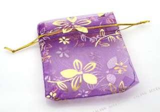 50 Gift Jewelry Organza Bags 7x9cm 120103