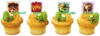 Rango & Friends Cupcake Rings Party Favors Decorations