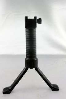 NEW TACTICAL Bipod Hand Grip Spring Loaded Bi pod Weaver Mount   Black
