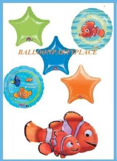 DISNEY NEMO HAPPY BIRTHDAY PARTY xl balloons fish ocean decoration