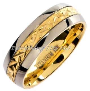 *Grade 5* Titanium Wedding Ring Band Comfort Fit 7mm Size 15