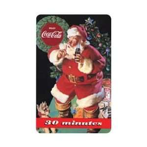 Cola Collectible Phone Card 30m Coca Cola 1995 Santa With Coke Bottle