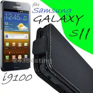 LEATHER FLIP CASE COVER for SAMSUNG GALAXY S2 II I9100