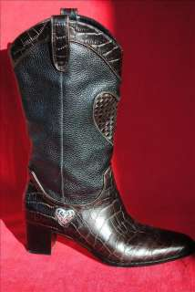 Brighton Toby leather western cowboy boots Size 8 M W