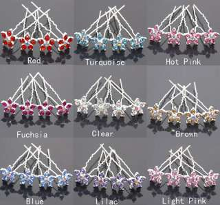 Wedding Bridal Hair Pin Swarovski Crystal Flower Hair Clips