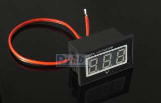 ... Digital Voltmeter DC 12v 120V Red led for Electric Car 36V 72V 96V ...