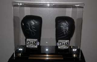 FLOYD MAYWEATHER MANNY PACQUIAO SIGNED BOXING GLOVES PSA/DNA CLETO