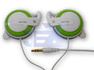High Quality Green & White over Ear Earphones /MP4