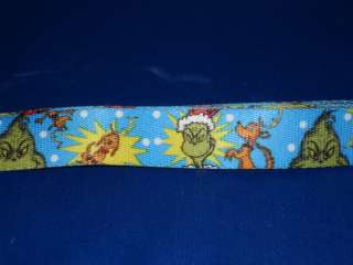 NEW Dr. Seuss Grinch Who Stole Christmas Dog Collar Leash Medium Large
