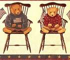 Wallpaper Border Patriotic teddybears GB9011 2B
