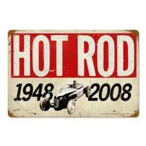 60th Anniversary Vintage Metal Sign Hot Rod Magazine