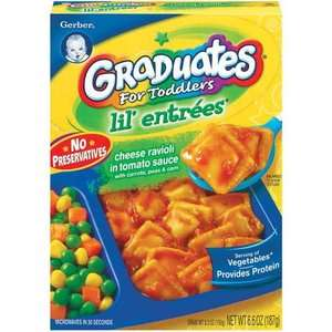 Gerber Graduates Lil' Entrees Cheese Ravioli In Tomato