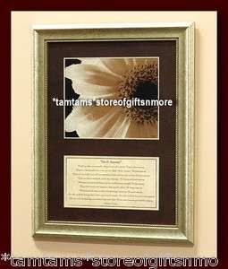 IT ANYWAY POEM MOTHER TERESA FRAMED WALL PLAQUE DAISY FLOWER PICTURE