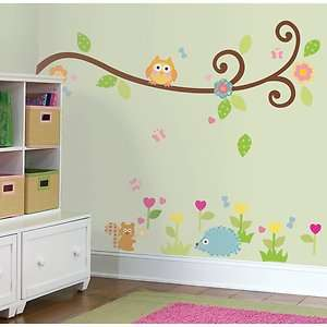 BiG Wall Stickers Tree Flowers Animal Room Decor Decals Nursery