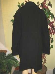 Kenneth Cole reaction women black Wool blend long coat jacket plus
