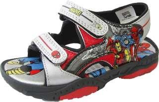 Boys Marvel Comics Spiderman Sandals Sizes 7 8 9 10 11 12 13 1