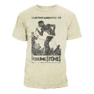 ROLLING STONES VINTAGE TOUR POSTER ADULT TEE SHIRT