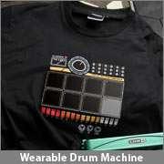 NEW Interactive Drum Machine T Shirt DJ Sampler Electronic Roland
