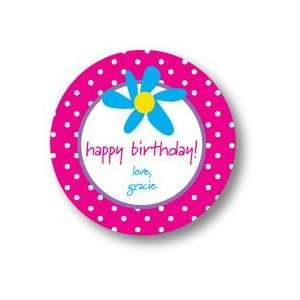 Polka Dot Pear Design   Round Stickers (Fun Flower   527r