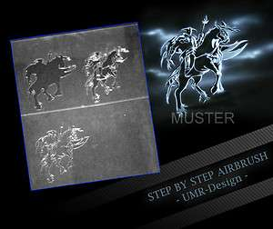 Airbrush Stencil Template 3 Steps AS 007 M Size 5,11 x 3,95