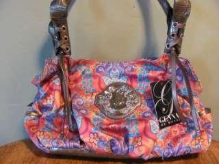 NWT Genna de Rossi Shoulder Bag Handbag Purse Hobo Satchel Pink Silver