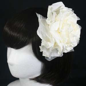 FLOWER HAIR CLIP ACCESSORY BROOCH UNIQUE FASCINATOR WEDDING BRIDAL HAT