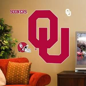 NCAA Oklahoma Sooners Team Logo Vinyl Wall Decal Set