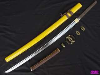 100%HandMade Japanese Samurai Sword Full functional katana  Yellow