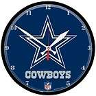 dallas cowboys nfl 12 round wall clock cowboys clock expedited