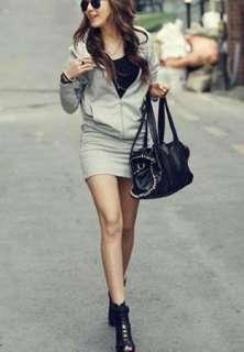 Womens Hoodie mini dress Zip Up hoodies Wings Hooded Sweatshirt