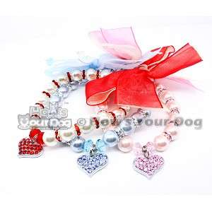 PEARL & RHINESTONE PET NECKLACE DOG CAT WEDDING COLLAR