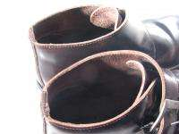 Robert Wayne NEW YORK Ankle Boots Brown Leather Buckle Mens 11M 11 M