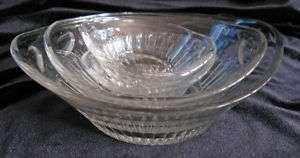 Elegant Heisey Glass Graduated Sauce Bowls Dishes