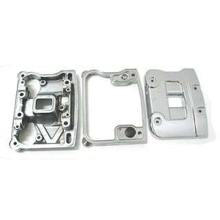 Pair of Chrome Rocker Cover Boxes 93 99 Harley Big Twin
