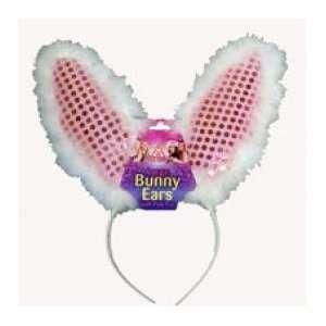 Hen Night Party Fancy Dress Pink Sequinned Bunny Ears