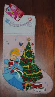 ~Cinderella & Friends~Musical Christmas Holiday Stocking~NEW~RARE