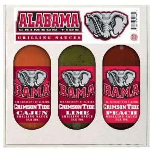 Alabama Crimson Tide 3 Bottle Grilling Sauce Gift Set