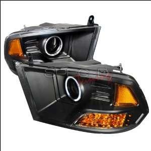 Dodge Ram 2009 2010 CCFL LED Halo Projector Headlights