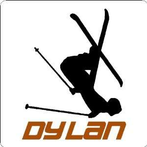 Custom Personalized Ski Decal Wall Sticker Removable Wall Art