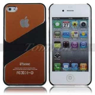 Orange Luxury Style Al Metal Alloy Hard Rubber Skin Case Cover For