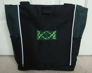 TOTE BAG Personalized Zippered Celtic Knot Irish Dance