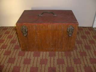 Vintage Wood Fishing Tackle Box