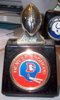 1970s Denver Broncos Full Football Avon Decanter