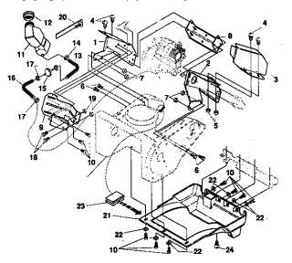 Craftsman snow thrower engine and drive parts model 536884670